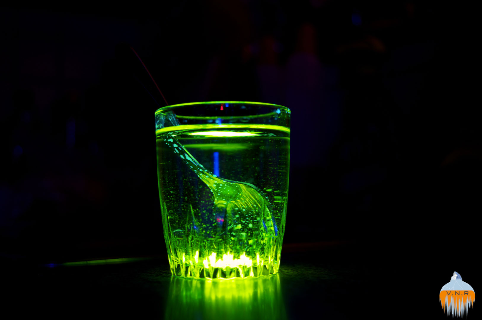 Glowing glass of water