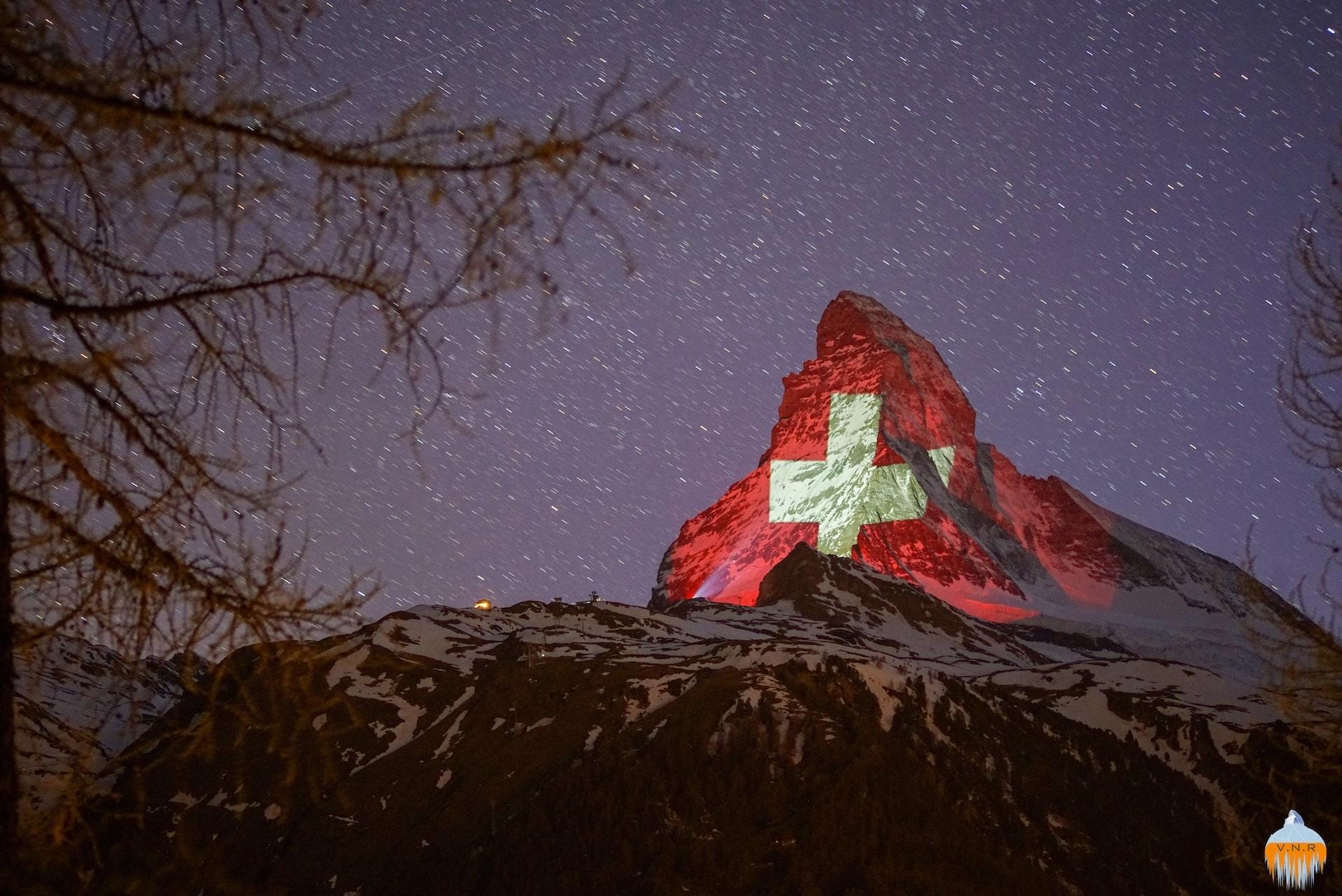 Matterhorn Swiss Flag